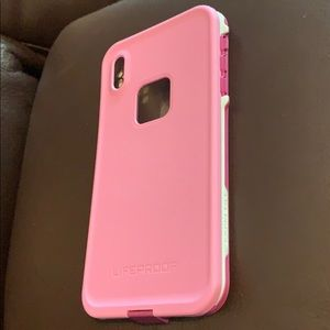 LifeProof Fre Frost Bite Pink iPhone XS Max Case